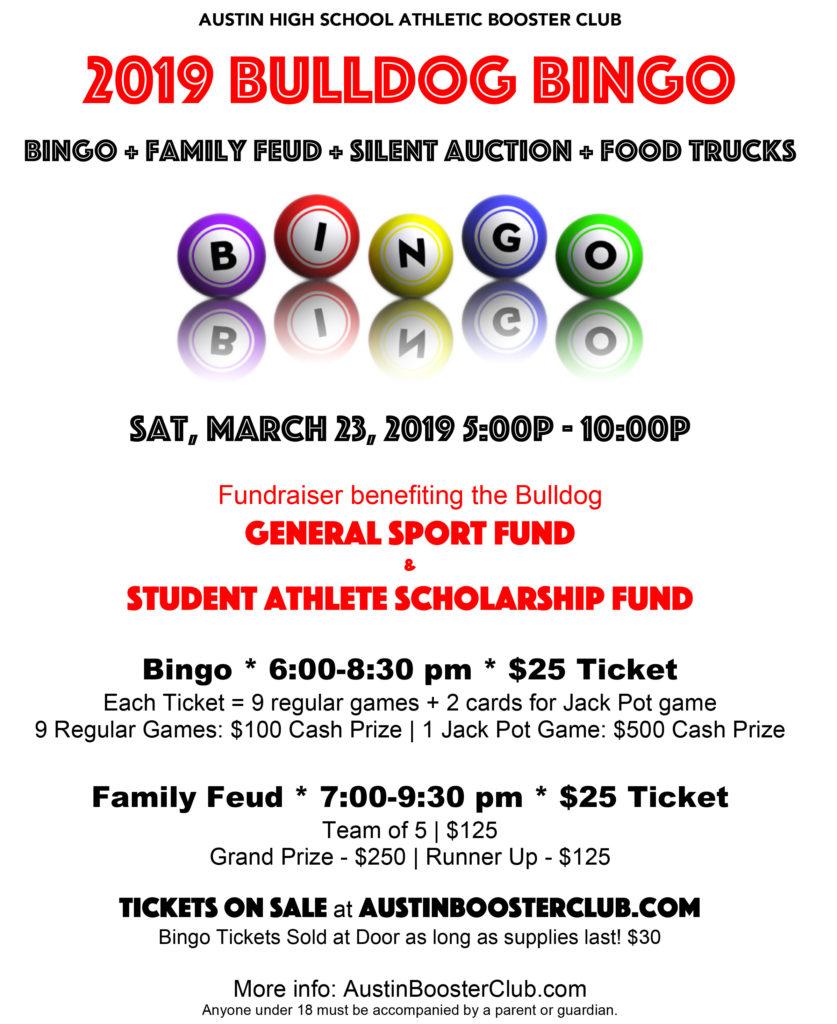 2019 Bingo & Family Feud Night   Stephen F Austin High School